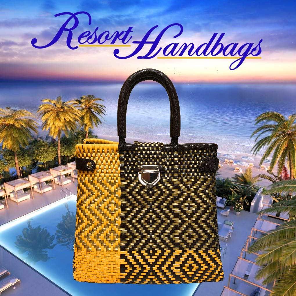 Handmade Tote Bag for Women Golden Sunflower Yellow Beach Resort Travel
