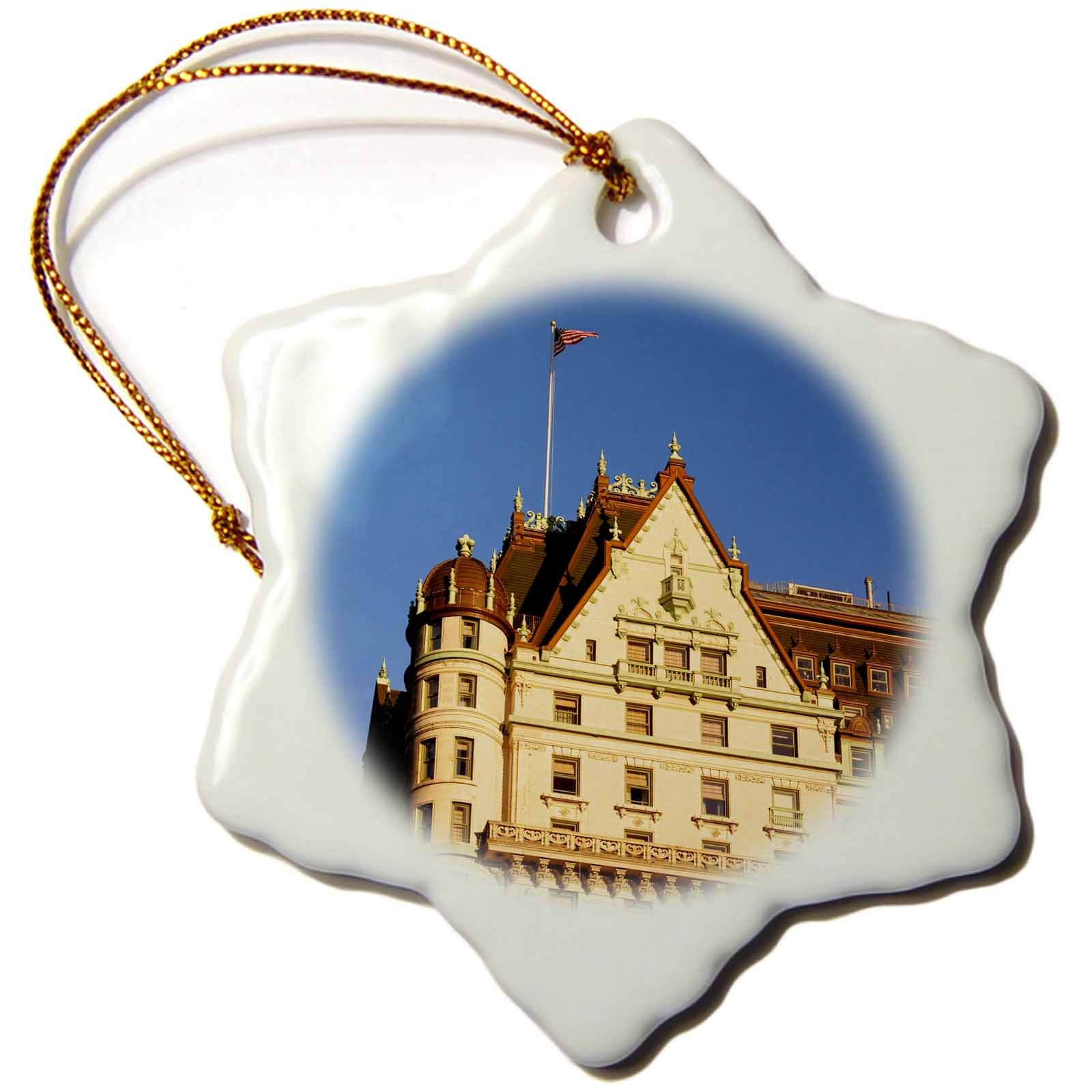 3dRose Plaza Hotel City, New York, USA US33 BJN0085 Brian Jannsen Snowflake Ornament, 3''