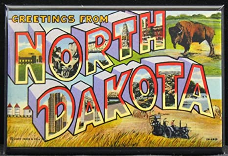 Details about  /Greetings from Bismarck North Dakota FRIDGE MAGNET travel souvenir