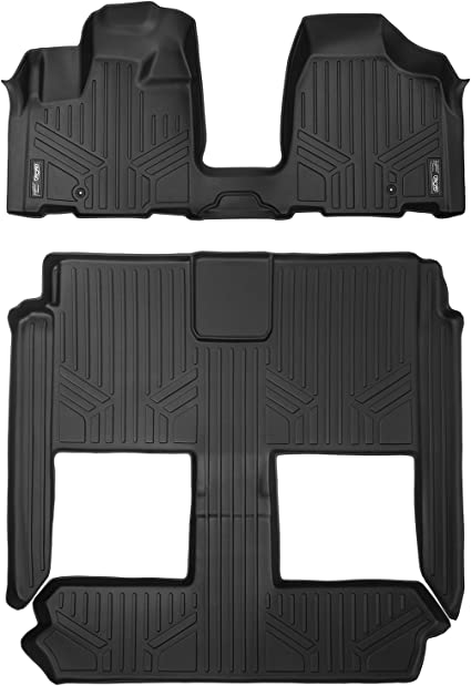 Black 2008-2017 Second /& 3rd Row MAXLINER B0046 Floor Mats for Dodge Grand Caravan//Chrysler Town /& Country