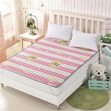 Fenfen Colchonetas para colchones para niños [Dormitorio para Estudiantes] Colchonetas para tapete con tapete de algodón/Rosa (Tamaño : 200 * 200cm): ...