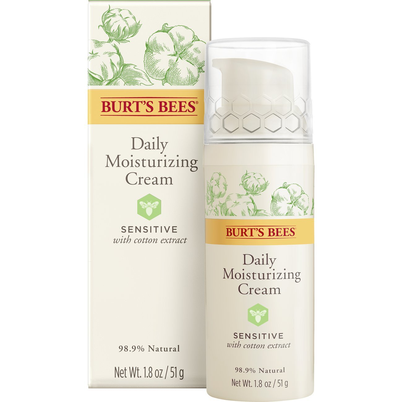 Burt's Bees Daily Face Moisturizer for Sensitive Skin, 1.8 Ounces by Burt's Bees (Image #1)