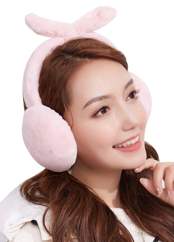 Cute Rabbit Ear Cover Plush Warm Earmuffs Winter Lovely Women Girls Ear Warmers Fleece Earmuffs