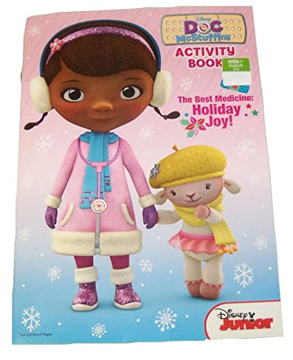 Disney Doc McStuffins Coloring Activity Book Christmas Edition The Best Medicine Holiday
