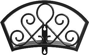 GOFORWILD Garden Hose Holder, Decorative Star Hose Butler Sturdy Water Hose Rack, Durable Wall Hose Hanger, Holds 125-Feet of 5/8-Inch Hose, Hose Reel, Made of Gauge Steel, 7018