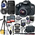 Canon EOS Rebel T6 DSLR Camera w/ EF-S 18-55mm Lens, EF 75-300mm Lens, Premium Accessory Bundle and Audio Technica Headphone