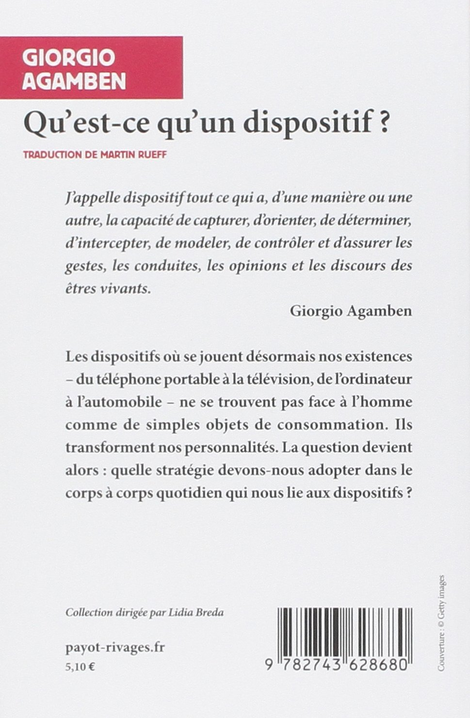 giorgio agamben qu est ce qu un dispositif pdf