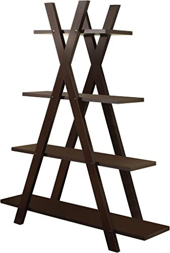 Reviewed: Coaster Home Furnishings Coaster Contemporary Cappuccino X Bookcase