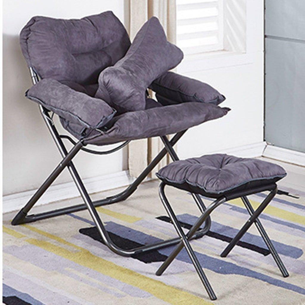Deluxe Padded Liegesitz Mit Fußstütze Einstellbare Camping Angeln Klappkissen Relax Faulen Stuhl Für Schlafzimmer Wohnzimmer Dorm Balkon