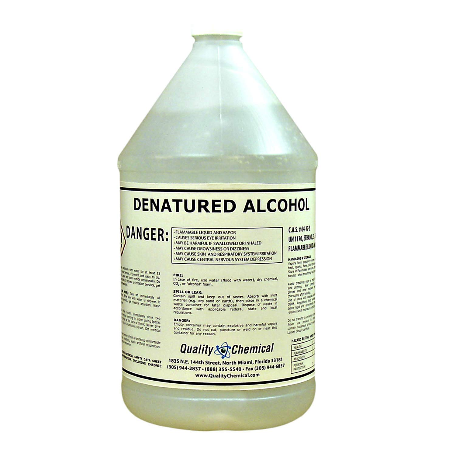 Denatured Alcohol (Ethanol)-1 Gallon (128 oz.)