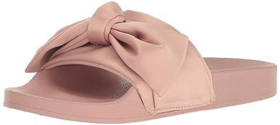 b241d353c87 Steve Madden Women s Silky Flat Sandal Pink Satin 5 ...
