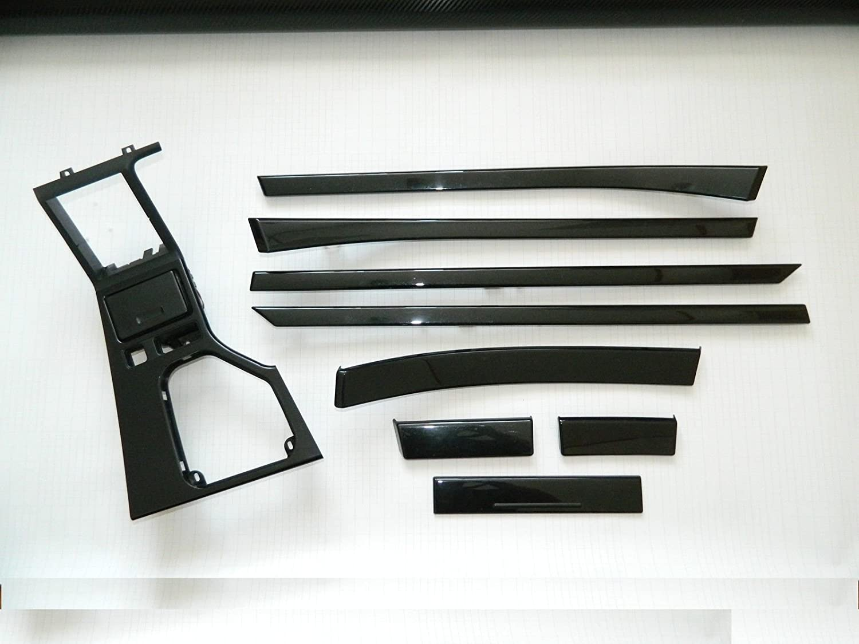 Dekorleisten Interieurleisten 3D Folien Set schwarz Hochglanz passend fü r E39 Carbonveredelung