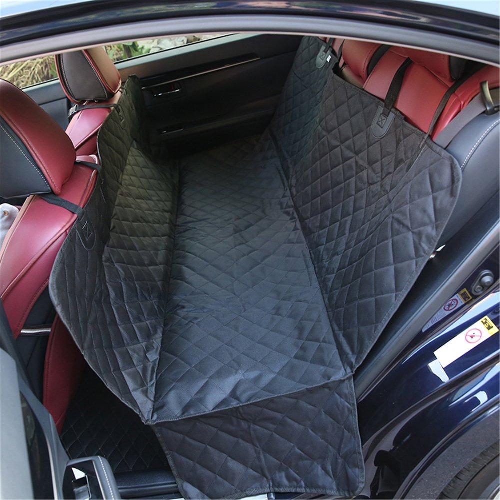 Housse de Siè ge pour Animaux Miyare Pet de Coussin 147cm pour Automobile en Oxford Polyester Coussin de Siè ge de Vé hicule Arriè re pour Chiens Chats (Noir)