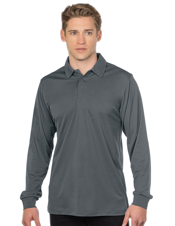 Tri-Mountain Performance Mens K030LS Stalwart Long Sleeve Snag-Resistant Polo Shirt