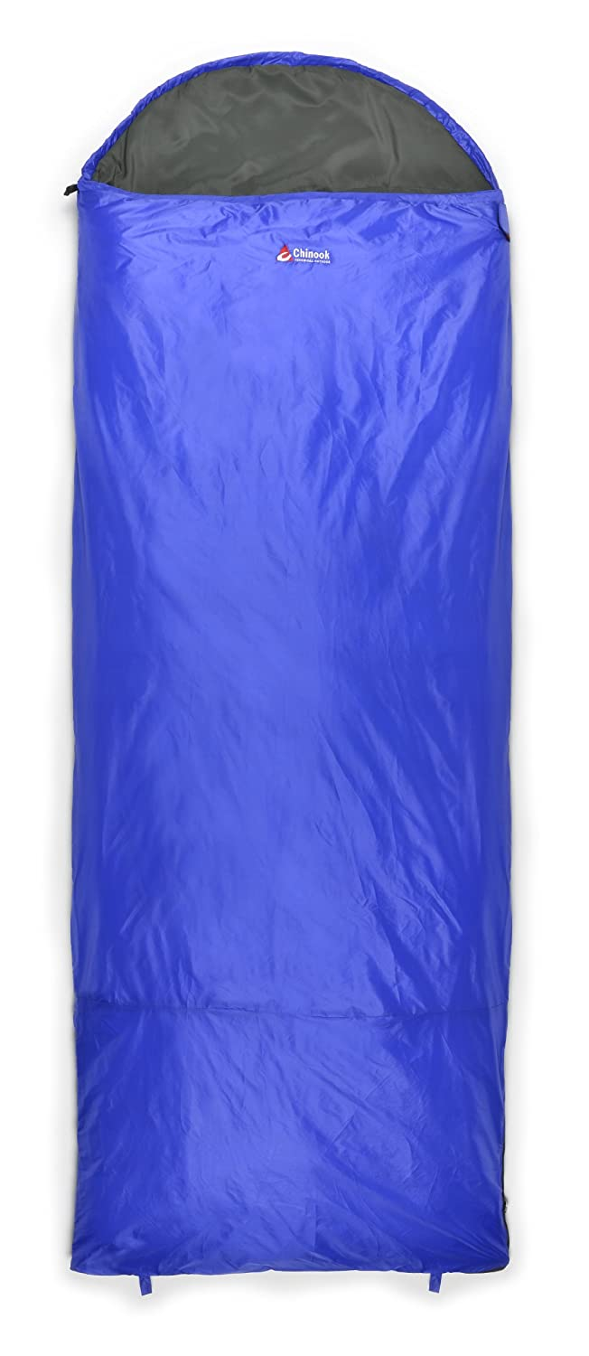 Chinook ThermoPalm Hooded Rectangular 50-Degree Synthetic Sleeping Bag, Blue by Chinook B008BKWI74