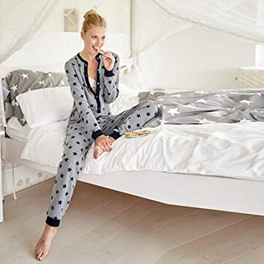 Women Long Sleeve Printed O Neck casual Home Sleepwear sets