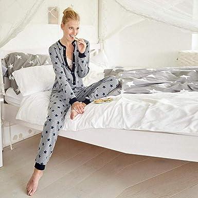 Women Long Sleeve Printed O Neck casual Home Sleepwear sets