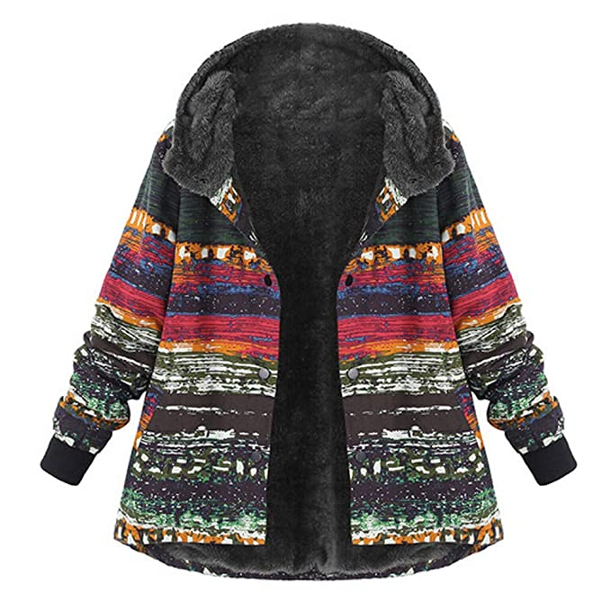 2c8e94fd5f6 Transer- Women s Plus Size Warm Thick Fluffy Fleece Long Sleeve Hooded  Coats Hoodie Sweatshirt (
