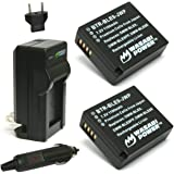 Wasabi Power Battery (2-Pack) and Charger for Panasonic DMW-BLE9, DMW-BLG10 and Panasonic Lumix DMC-GF3, DMC-GF5, DMC-GF6, DMC-GX7, DMC-GX85, DMC-LX100, DMC-ZS60, DMC-ZS100