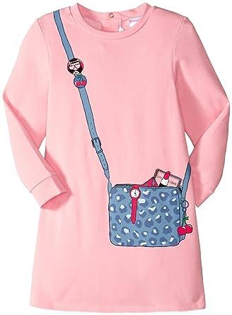 b0fecc59989 Little Marc Jacobs Baby Girls' Long Sleeve Essential Jersey Modal Dress ( Infant),