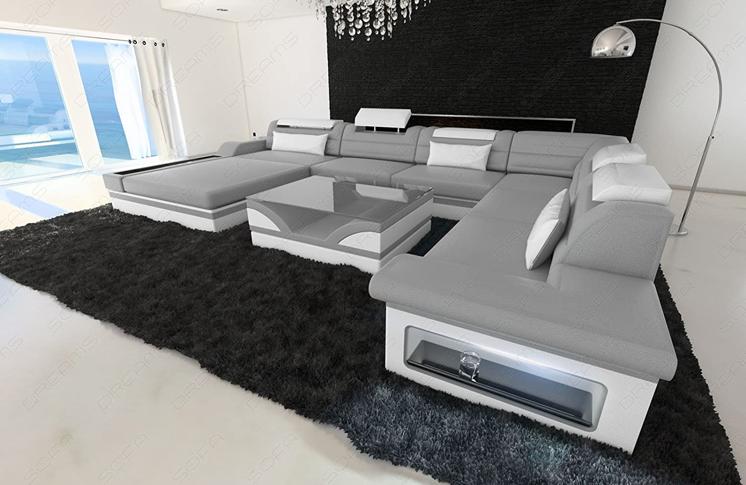 Amazon design sectional sofa mezzo xxl with led lights amazon design sectional sofa mezzo xxl with led lights kitchen dining parisarafo Gallery