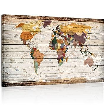 amazon xxlarge vintage world mapキャンバス印刷atlas framedマップ壁