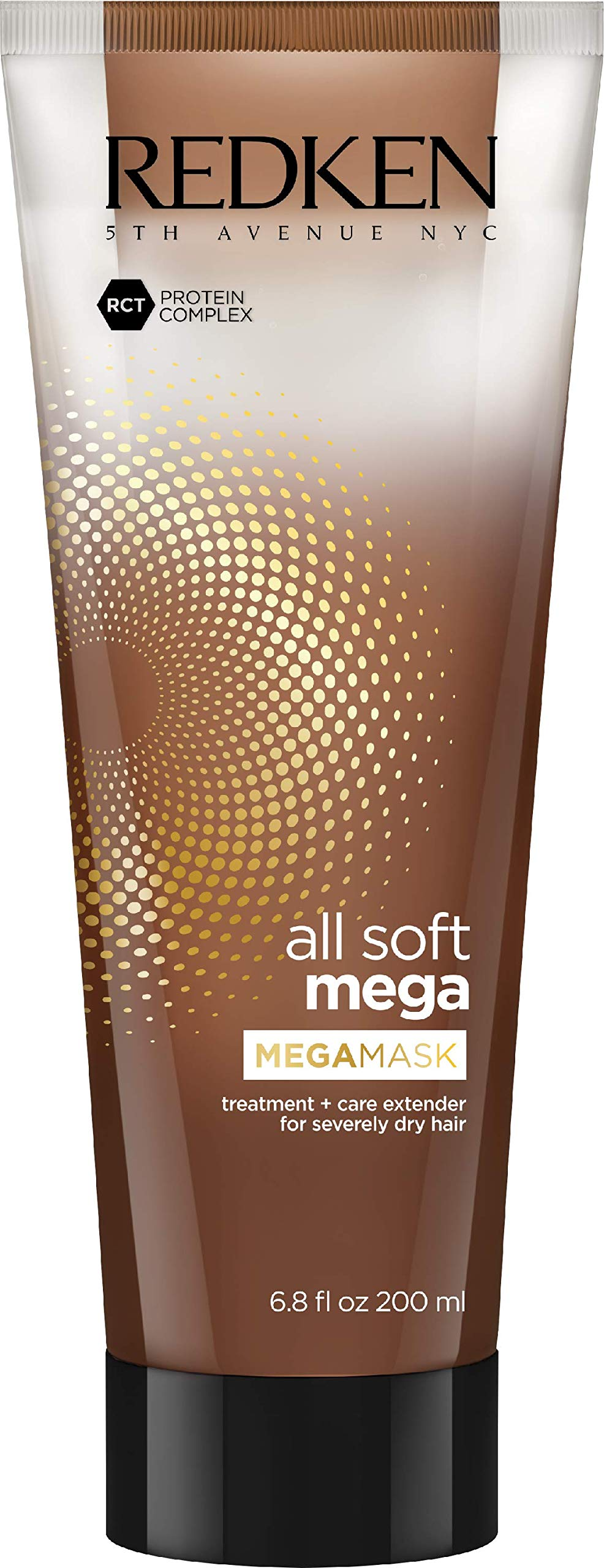 Redken All Soft Mega Mega Mask | For Extremely Dry Hair | Deep Conditioning Hair Treatment Adds Softness & Shine | With Aloe Vera | 6.8 Fl Oz