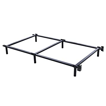 swascana stt heavy duty easy assemble steel bed frame box spring and mattress foundation twin - Steel Twin Bed Frame