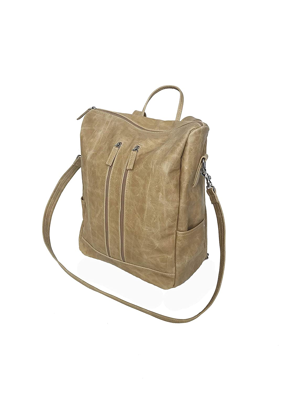 d3e5d1e8f938 Amazon.com  Fgalaze Distressed Camel Leather Backpack Bag
