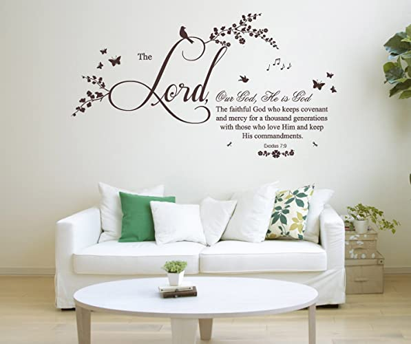 Amazon.com: Exodus 7 v 9 Christian Bible Verse Quote, Vinyl Wall Art ...