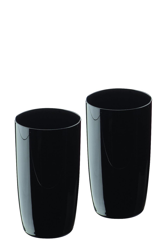Artland Midnight Hiball Glass, Set of 2, Black ART13615PK2