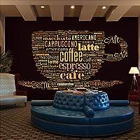 WPFZH 3D Mural Ocio Cafetería Letras inglesas Restaurante temático Bar Sala de Estar Fondo Mural Papel Tapiz-150x105cm