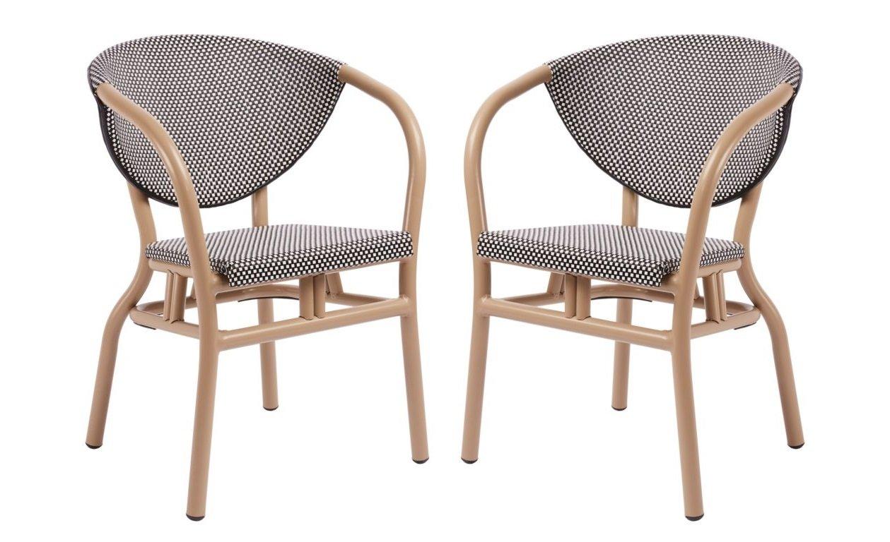 dafnedesign. com - N ° 2 sillones de aluminio - Dimensiones ...