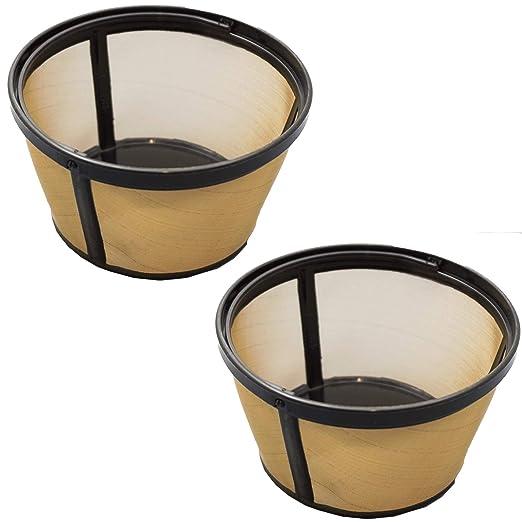 Spares2go - Filtro interior permanente para cafetera Delonghi (2 ...