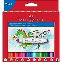 Faber-Castell 5062155170 2 In 1 Jumbo Keçeli Kalem, 10'Lu, 10 Renk