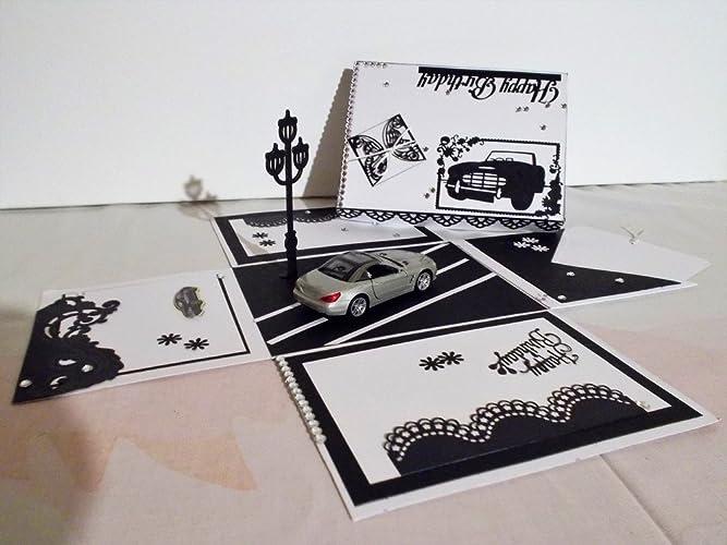 Pop Up Box Explosionsbox Geburtstag Geldgeschenk Amazon De Handmade