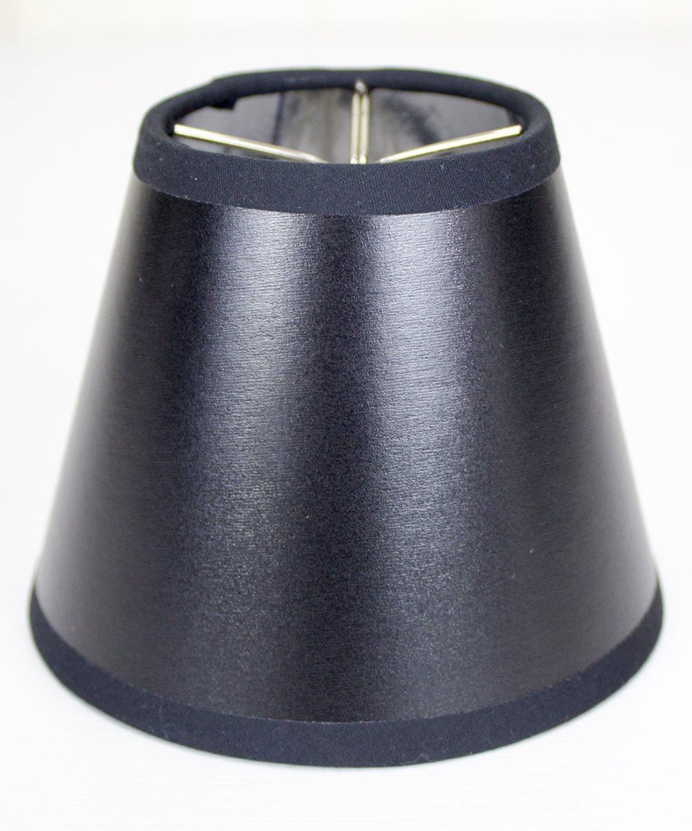 3x5x4 Black Parchment Silver-Lined Chandelier Lampshade By Home Concept - Perfect for chandeliers, foyer lights, and wall sconces -Small, Black