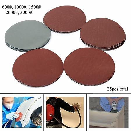 25pcs Sanding Disc Hook Loop 800 1000 1500 2000 3000Grits Sand Paper Abrasive UK