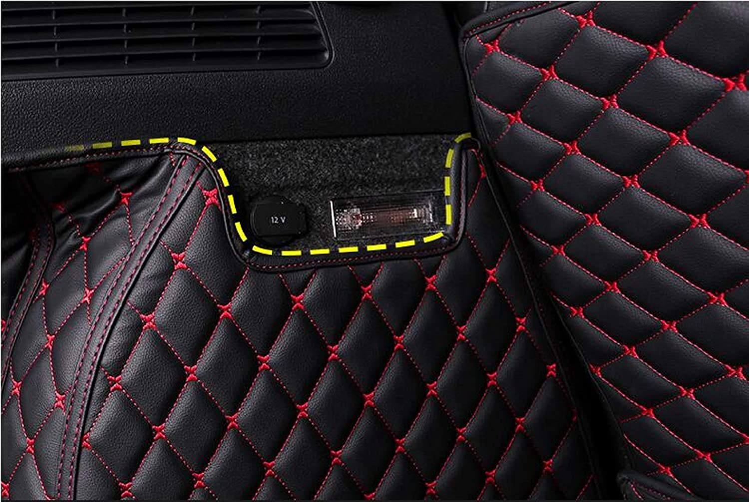 Bonus-Mats Custom Fit All-Weather Full Coverage Waterproof Car Cargo Liner Trunk Mat for Jeep Wrangler 2018-2020 4 Door with Speaker Black with Black Stitching