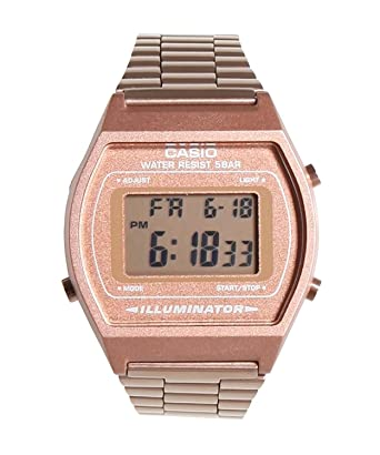 68949fc6d Amazon.com: Casio Women's B640WC-5AEF Retro Digital Watch (Rose Gold):  Watches