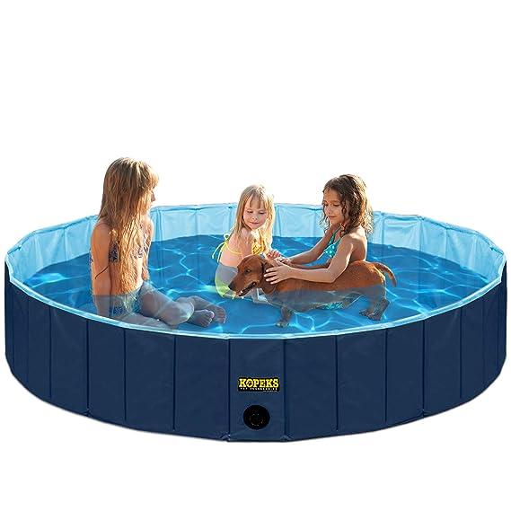 KOPEKS Piscina Extra Grande Infantil Ideal para Niños/Mascotas Perros 160 x 30 cm - Azul Marino y Celeste - XL - XXL: Amazon.es: Jardín