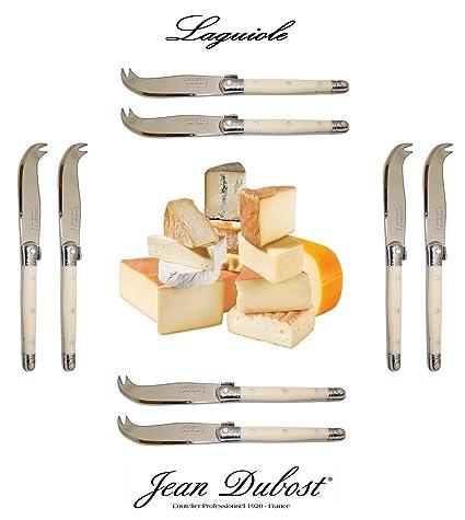 Fabricado en Francia LAGUIOLE Dubost - 8 cuchillo para queso - marfil - acero (pintura