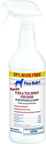 Flea Halt! Water-Based Flea & Tick Spray for Dogs Plus Citronella