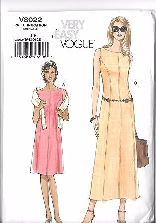 Amazon Vogue 40 Princess Seam ALine Dress Pattern Size FF 40 Magnificent Princess Seam Dress Pattern