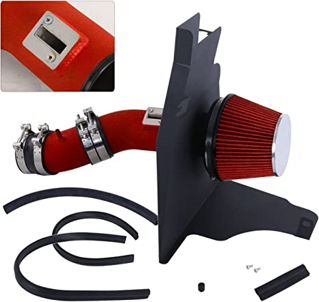 For Ford Mustang 3.7L V6 High Flow Induction Air Intake System Heat Shield Chrome Piping Kit