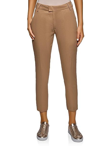 Pantalones Lino Mujer Oodji De Recortados Collection n0OvmN8w