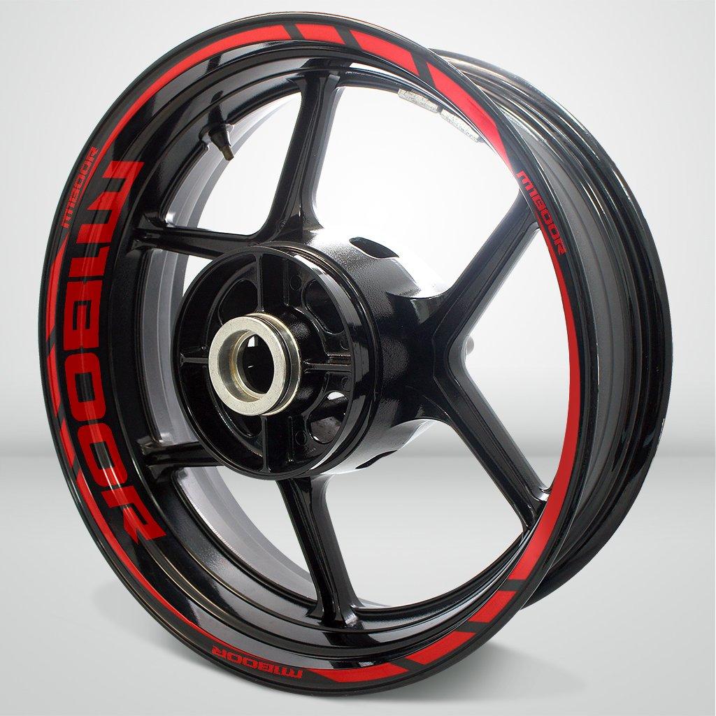 Rouge Brillant Jante de Moto décalcomanies Autocollant Accessoire pour Suzuki M1800R Intruder