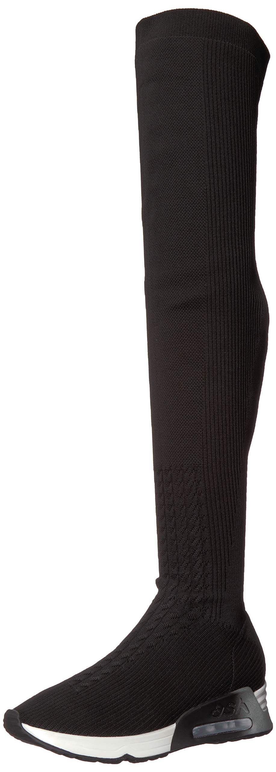 Ash Women's AS-LOLA Over The Over The Knee Boot Black 38 M EU (8 US)