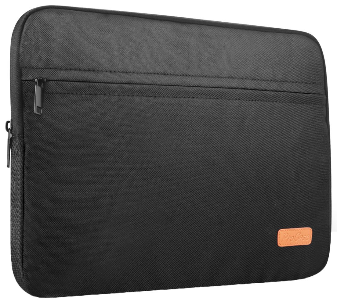 ProCase 11-12 Inch Laptop Tablet Sleeve Case Bag for 12 Inch MacBook, Surface Pro 6 4 3/ Surface Pro 2017, iPad Pro 12.9, Most 11-12 Inch Ultrabook Netbook MacBook Chromebook –Black