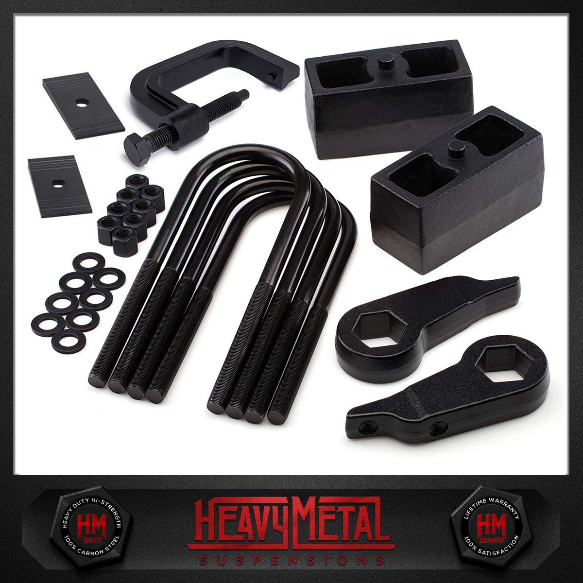 Suspension Lift Kit 3 Adjustable Front Lift Torsion Keys HeavyMetal 3 Rear Lift Blocks Torsion Tool Shims Ford Ranger 4x4